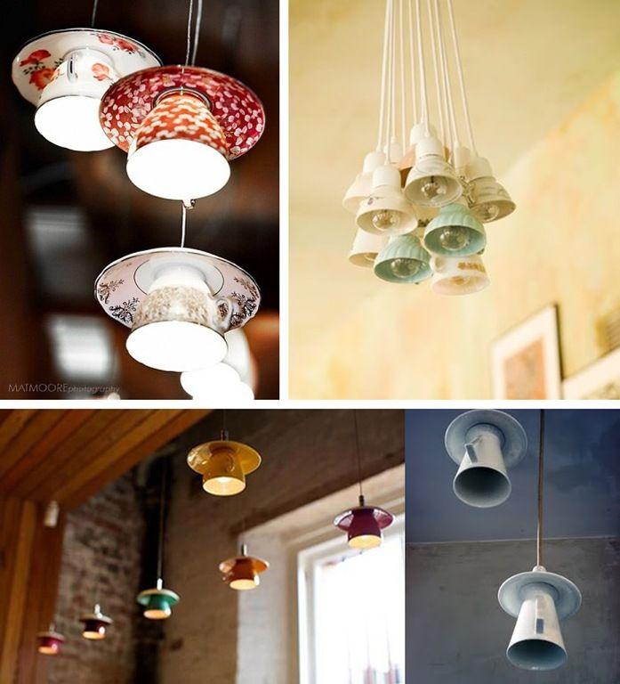 3 l mparas diy chulas para tu cocina iluminacion pinterest l mparas cocinas y cosas de casa - Ideas para hacer lamparas ...