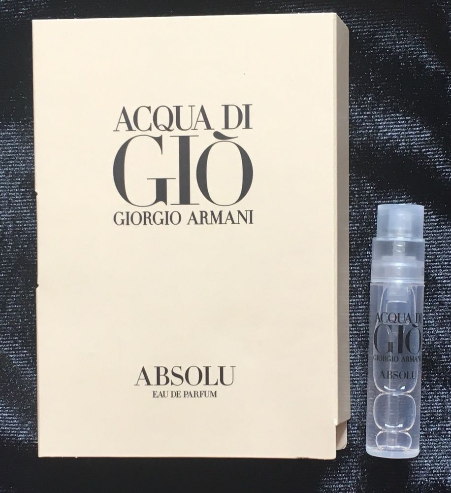 Giorgio Armani Aqua Di Gio Absolu Eau De Parfum 12 Ml 004 Fl Oz Hermes Jour Damp039hermes For Women Edp 85ml Sample Sz
