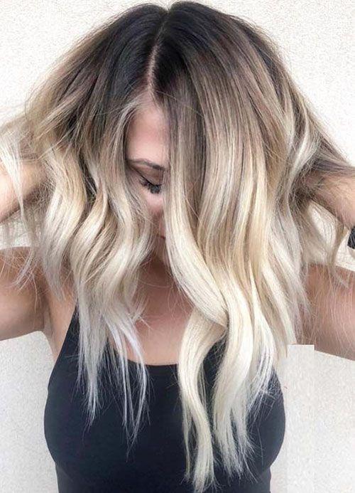 45+ Schöne braune bis blonde Ombre kurze Haare