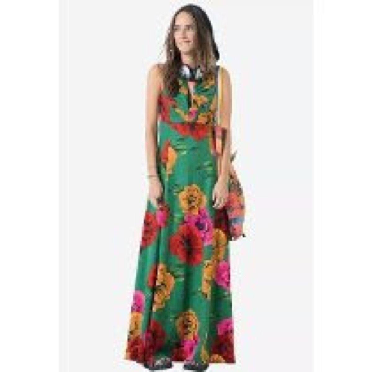 6f1c0d4ea Vestido Longo Farm Maxi Flor. Lindooo!!! - R$ 449,00 no MercadoLivre ...