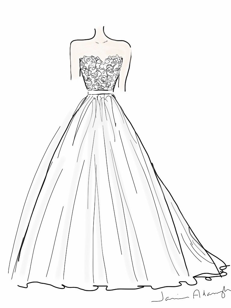 How To Design A Wedding Dress | Dress design drawing ...