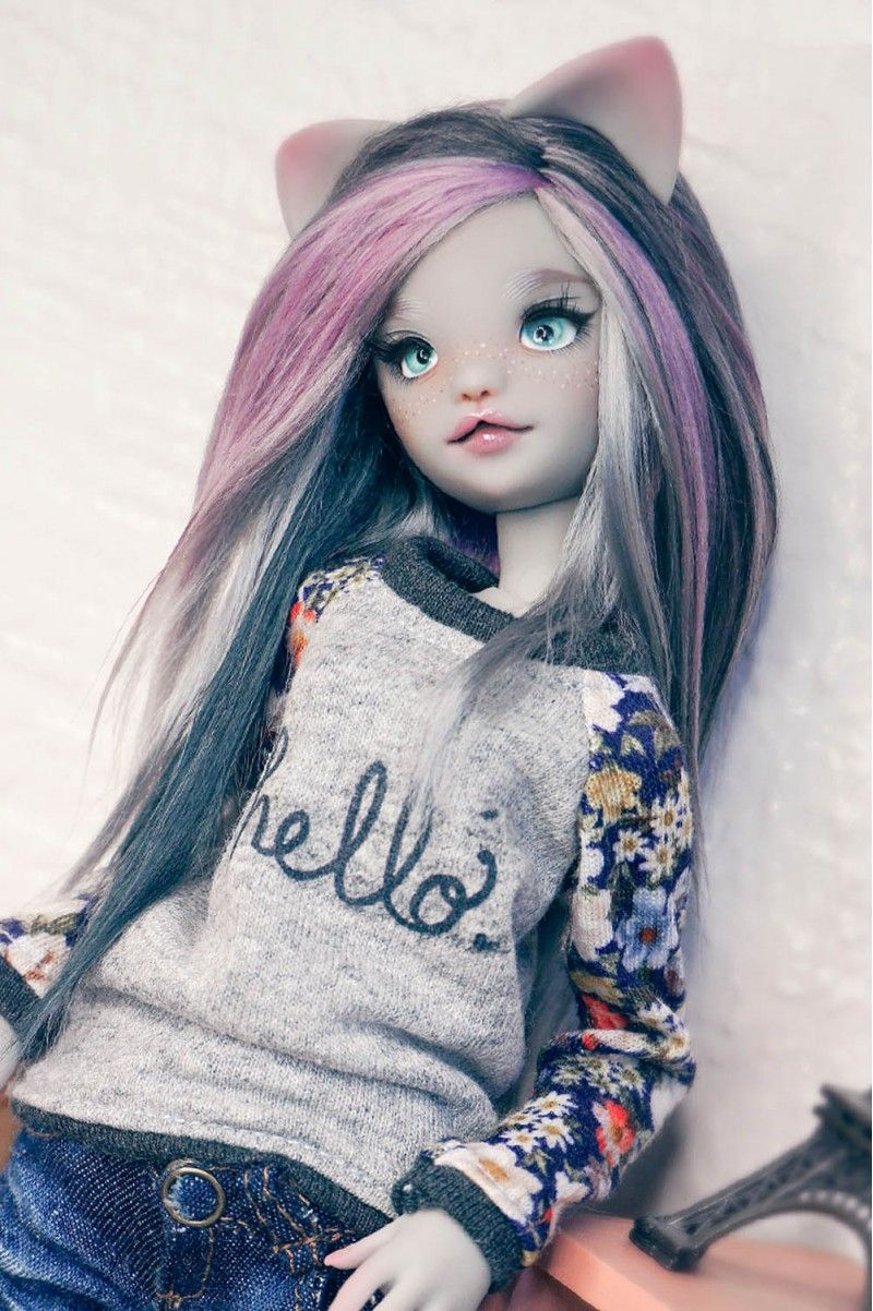 KittyM 27cm ArtistDoll Artist doll, Ultra violet