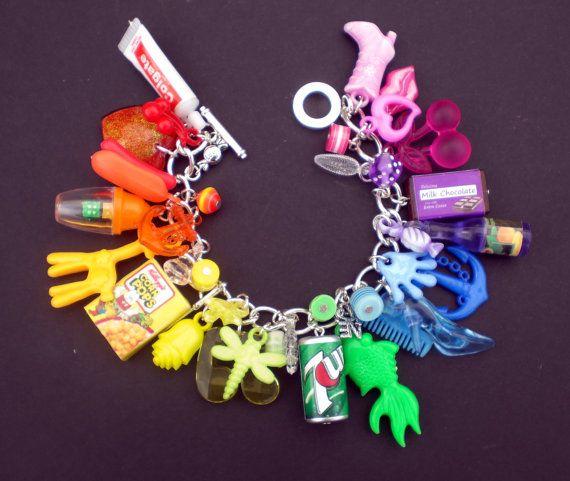 Kitsch Rainbow Loaded Gumball Charm Bracelet by KooKeeJewellery