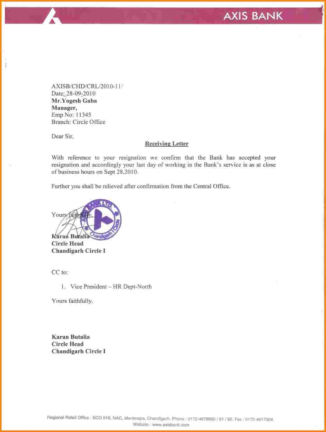 Noc Sample Bank Resignation Letter Format Noc For From Documentshub  Banks .
