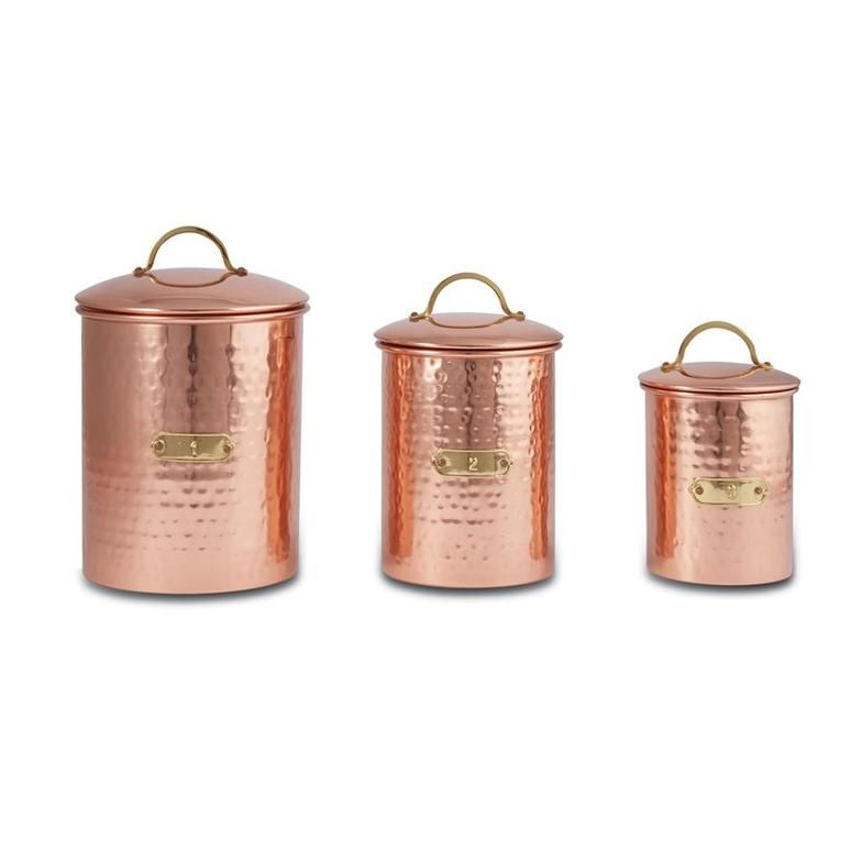 copper canister set shop dear yesteryear canister sets copper rh pinterest com