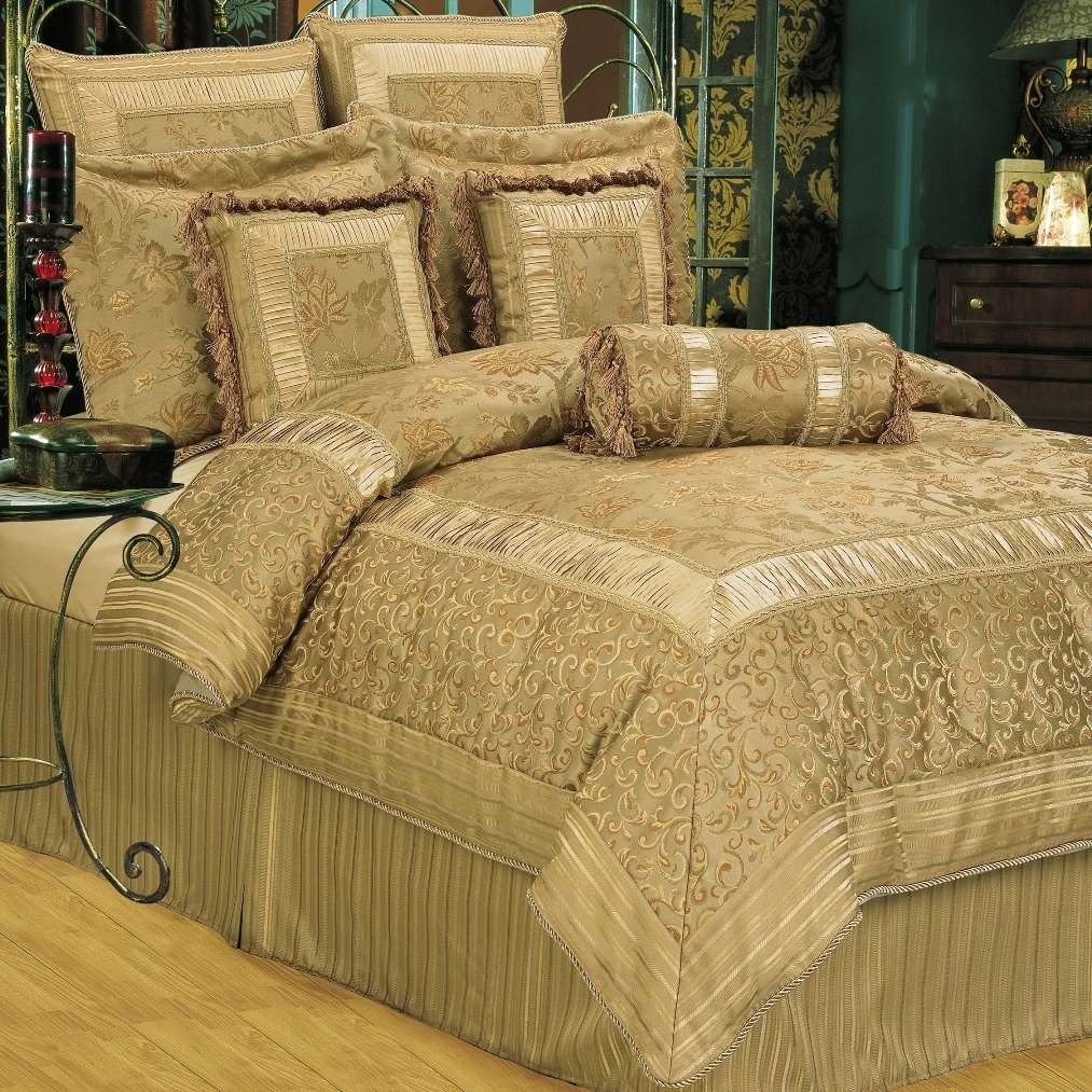 queen+bedding+gold+and+teal Kathy Ireland Romantic