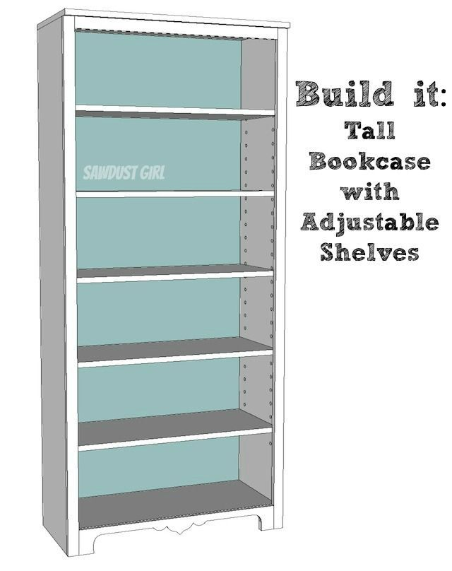 Superieur Tall Bookcase With Adjustable Shelves