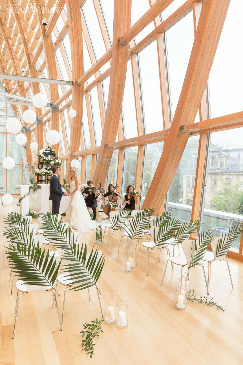 Tropical Art Deco Wedding Ceremony Modern Venue Minimal Decor Www Elegantwedding Ca