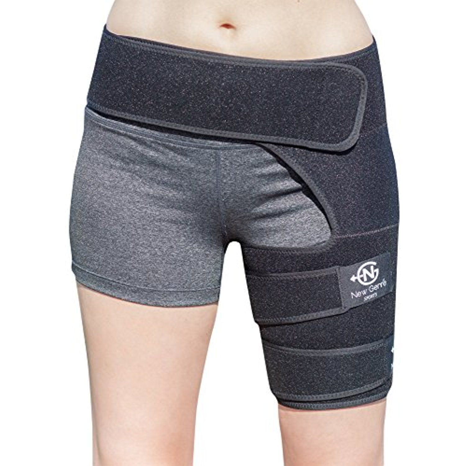 aeac6e8f17 Groin Support Brace by NewGen Sports, Breathable Adjustable Sleeve for  Women and Men Compression Wrap Band for Leg, Thigh, Quad, Hamstring, Hip  Joints, ...