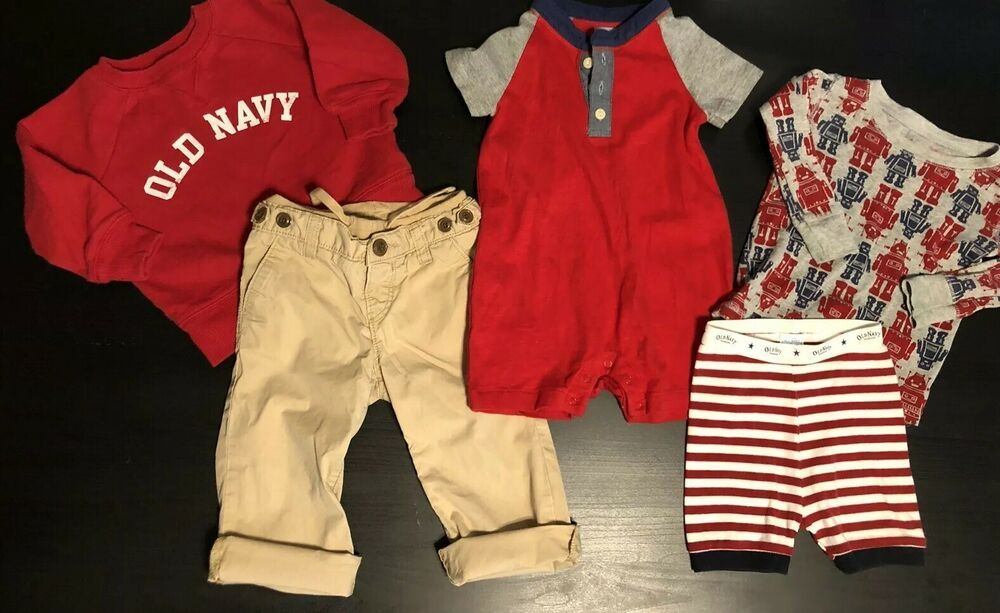 fffd09bbe Boys Gap And Old Navy Bundle Lot Capris Pants Romper Tops Pajamas 18-24  Months