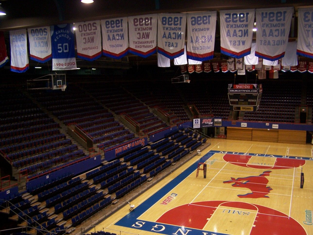 Southern Methodist University Smu Mustangs Moody Coliseum Southern Methodist University Smu University