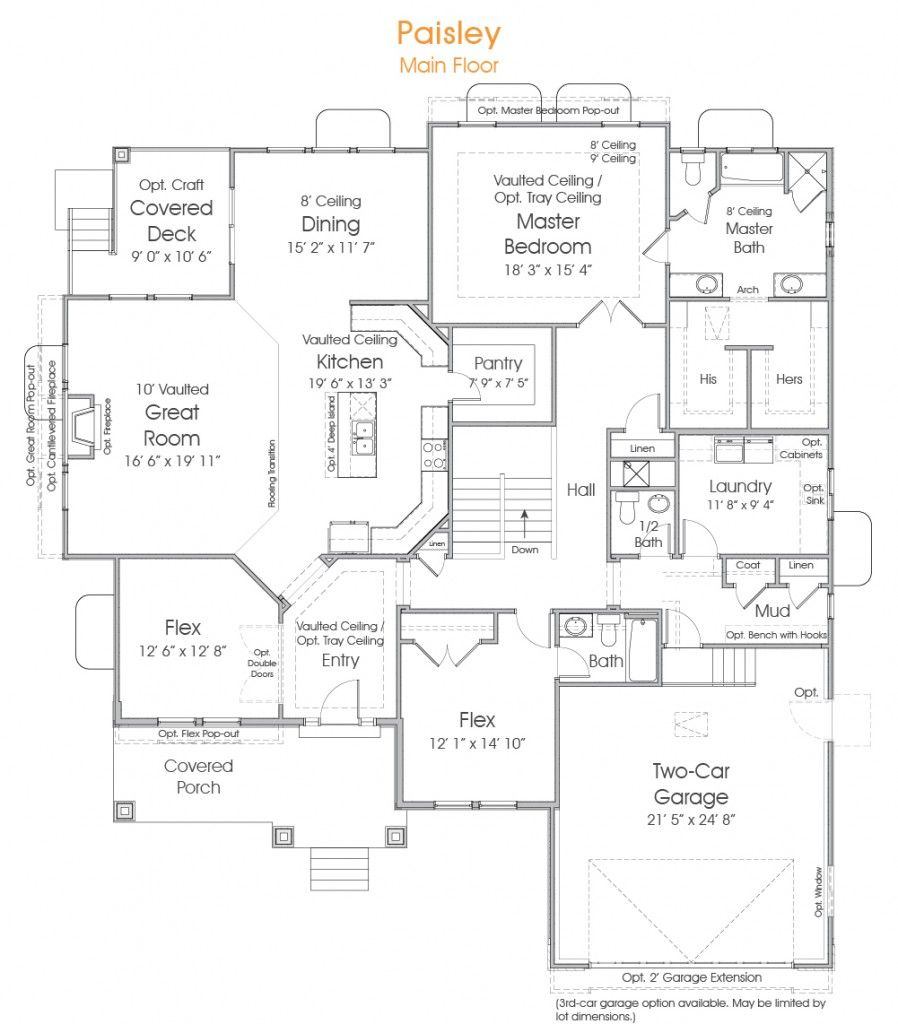 Paisley Utah Rambler Floor Plan Edge Homes Wish List