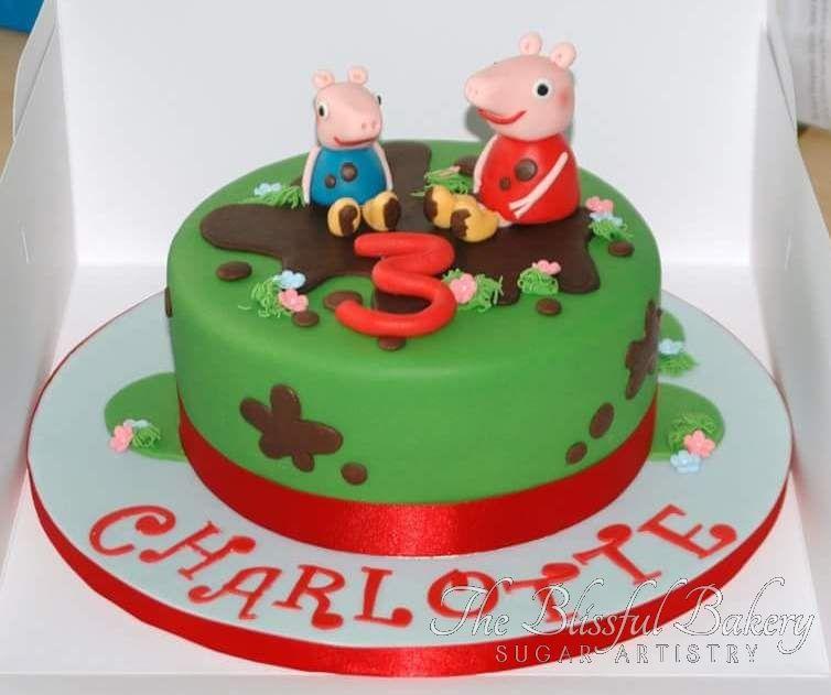 Birthday cake. Peppa Pig cake.