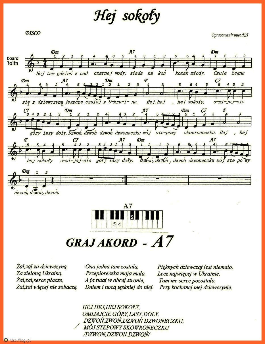 Hej Sokoły Nuty Na Keyboard Pinterest Sheet Music