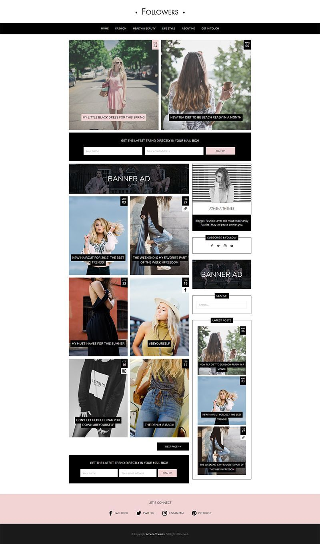 Followers Fashion & Lifestyle WordPress Blog Theme for