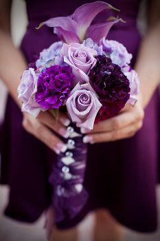Purple Wedding Flower Bouquet Bridal Bouquet Wedding Flowers