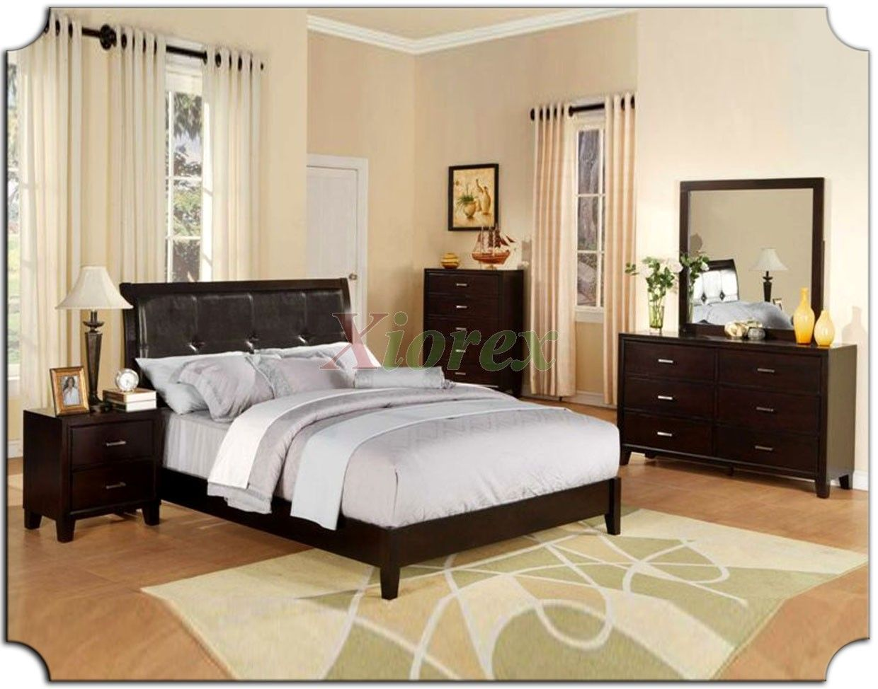 Superbe Bedroom Sets With Leather Headboards