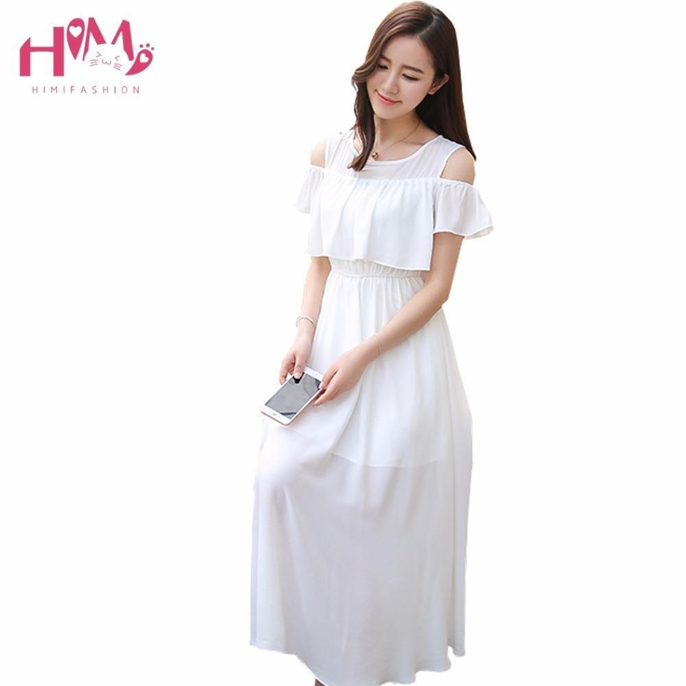 1291380981e15 2017 Korean Summer Sexy Maxi Women Big Size Party Dress Japanese Elegant  Off Shoulder Vintage Beach