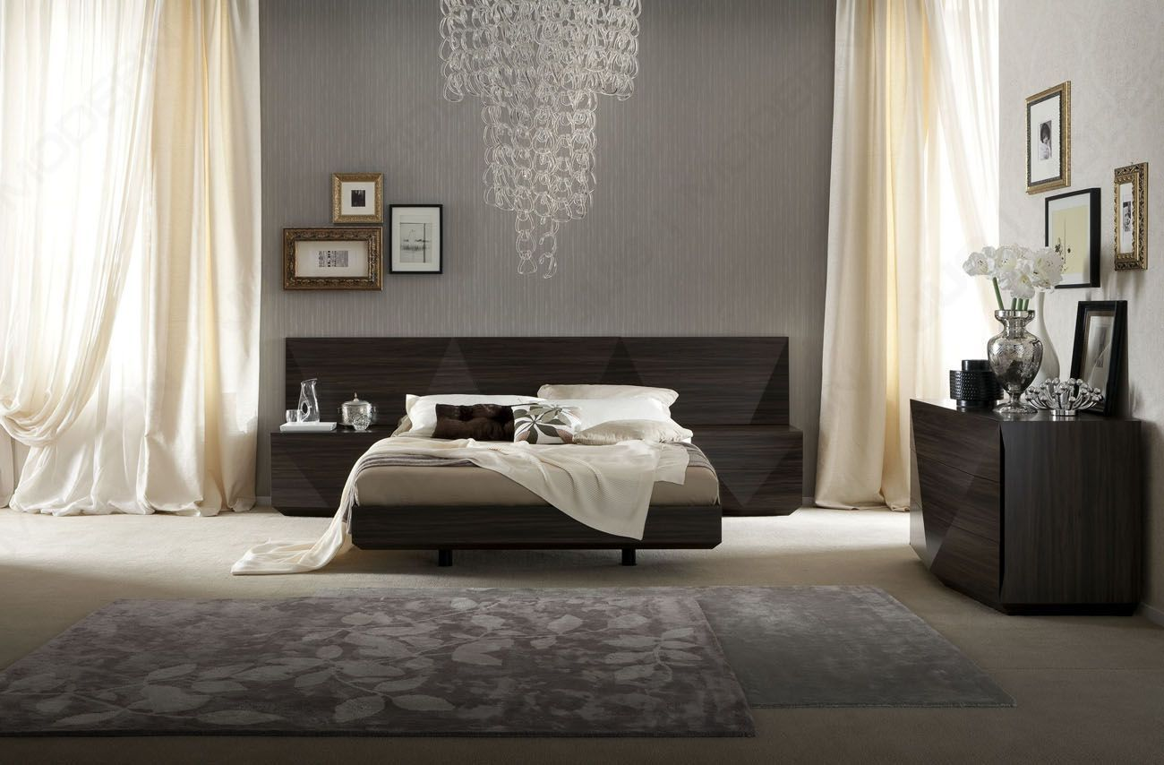 Best Lacquered Made In Italy Wood Luxury Platform Bed With Two 400 x 300