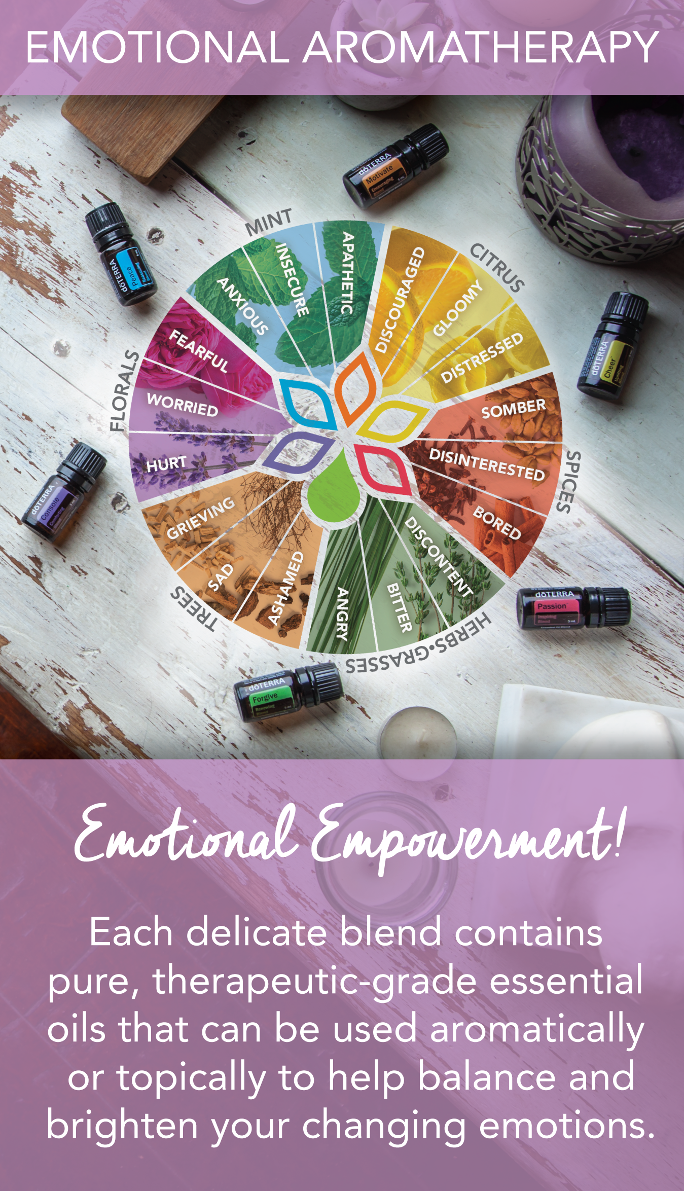 Join me online for a Free Facebook Class on Emotional AromaTherapy:  https://www.facebook.com/groups/EOsandEmotions/