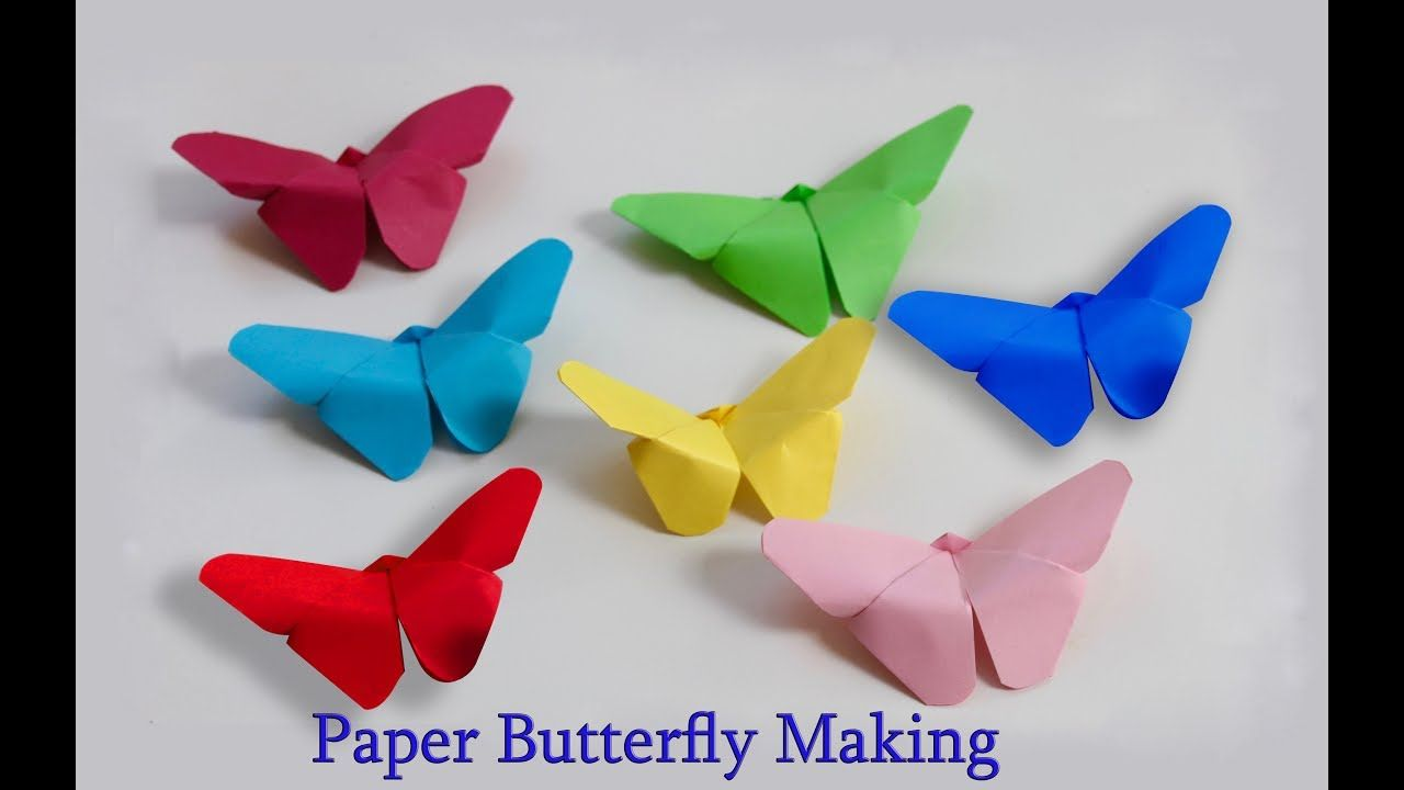 Paper Butterfly Making At Home Easy Paper Butterfly Origami