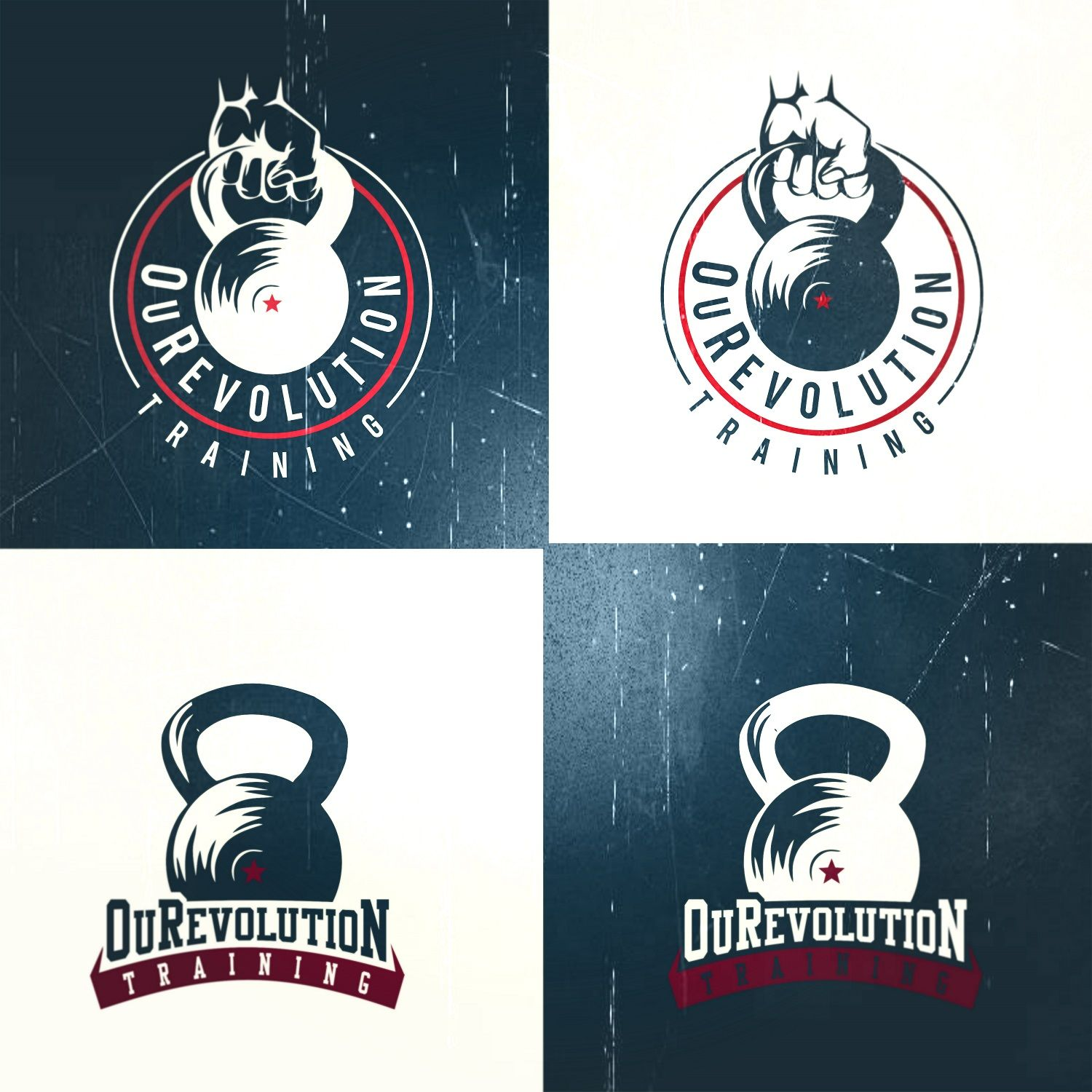 Kettlebell logo fitness cardio workout design by roman free