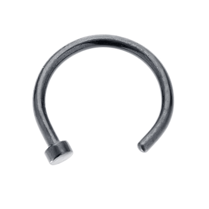 Freshtrends 18g Black Anodized Titanium Plated Nose Hoop Ring Nose Ring Jewelry Nose Hoop Nose Ring