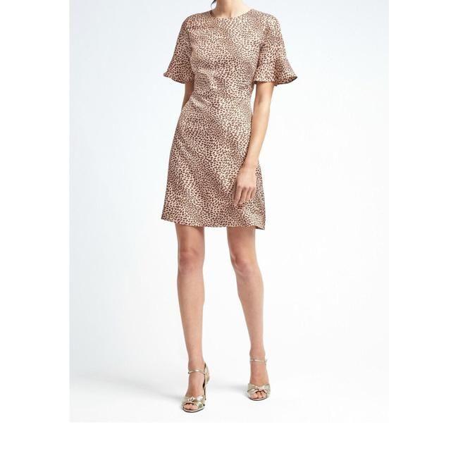 69fd0abad575 Banana Republic Leopard Print Fitter-sleeve Crew Dress - 48% Off Retail