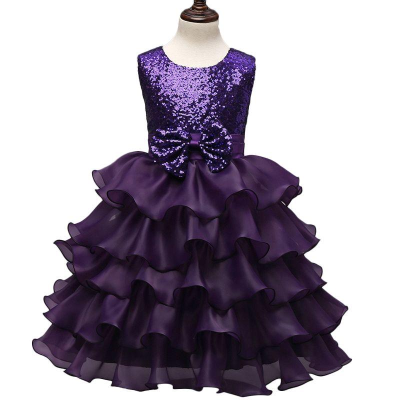 Vestido de bola princesa de las muchachas con el arco vestido de ...