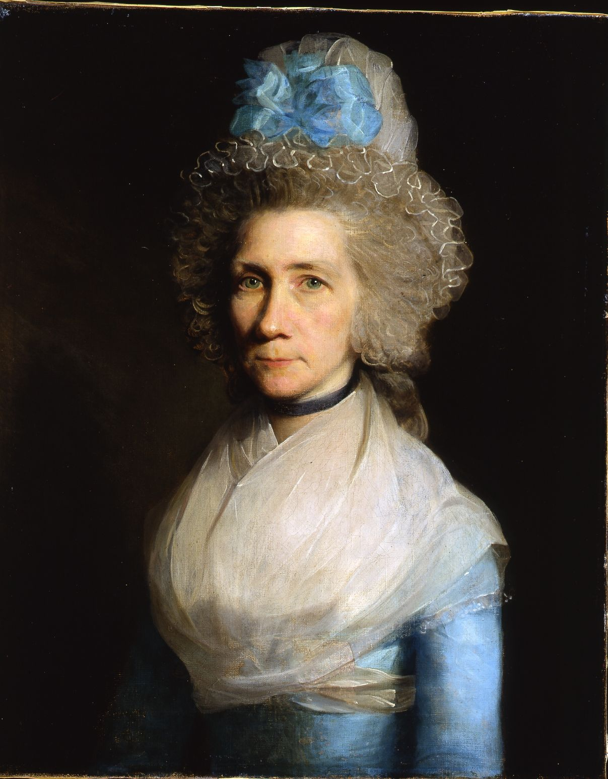 Gilbert Stuart (American, 1755 - 1828) Portrait of Elizabeth Caldwell Oil on canvas 18th Century (1790s) 26 x 21 inches 66 x 53.3 cm. By descent in the Caldwell family of Dublin until the present time.