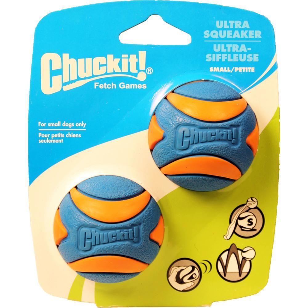 Canine Hardware Blueorange Chuckit Ultra Squeaker Small2 Pk