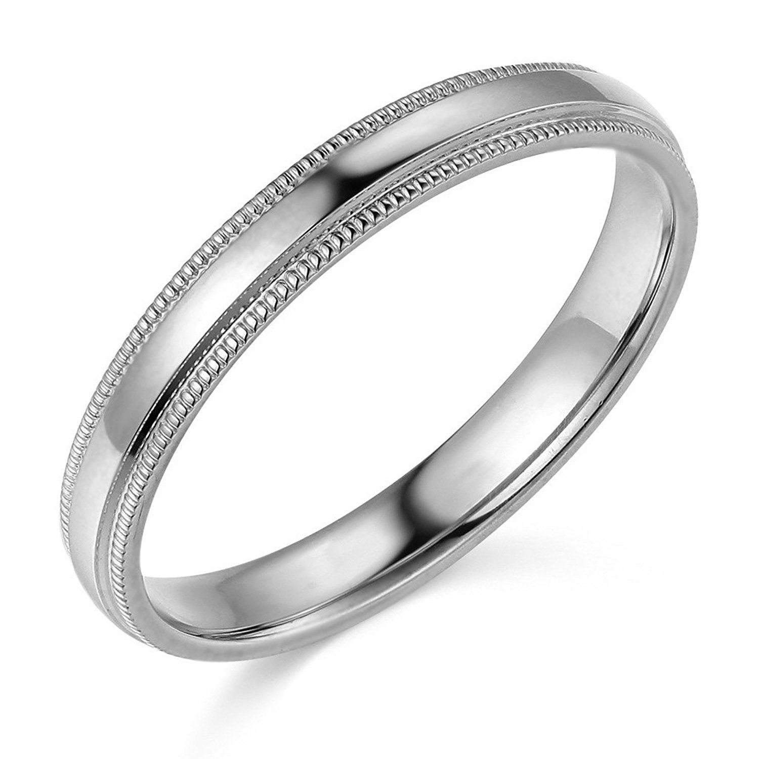 14k Yellow Or White Gold 3mm Plain Milgrain Wedding Band Check This Awesome Image Weddin With Images Milgrain Wedding Bands Jewelry Wedding Rings Mens Wedding Rings