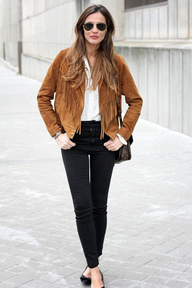 1000  images about Styling Fringe Jackets on Pinterest | Get the