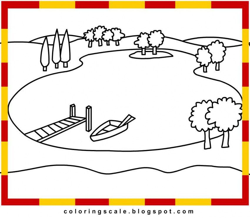 coloring pages on lake - photo#3