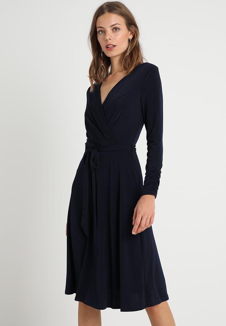 f5220be45f Wallis WRAP MIDI DRESS - Sukienka z dżerseju - ink - Zalando.pl