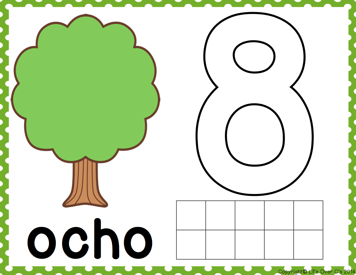 Treeplay Dough Mats Counting 1 10 Spanish
