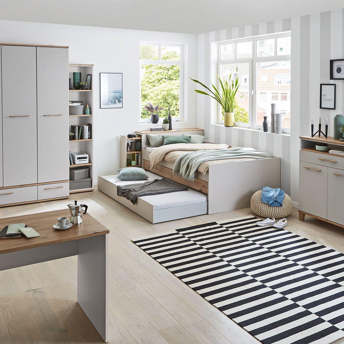 Kinder und Jugendzimmer, Kinderzimmer, Jugendzimmer, Bett aus Holz, Holzbett