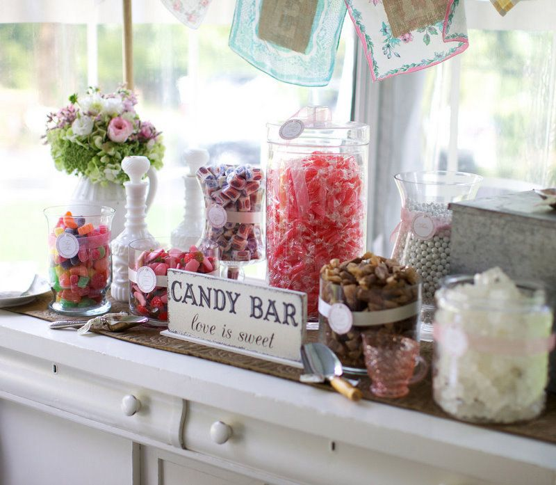 Candy Bar Love Is Sweet Self Standing Sign Hand Painted Shabby