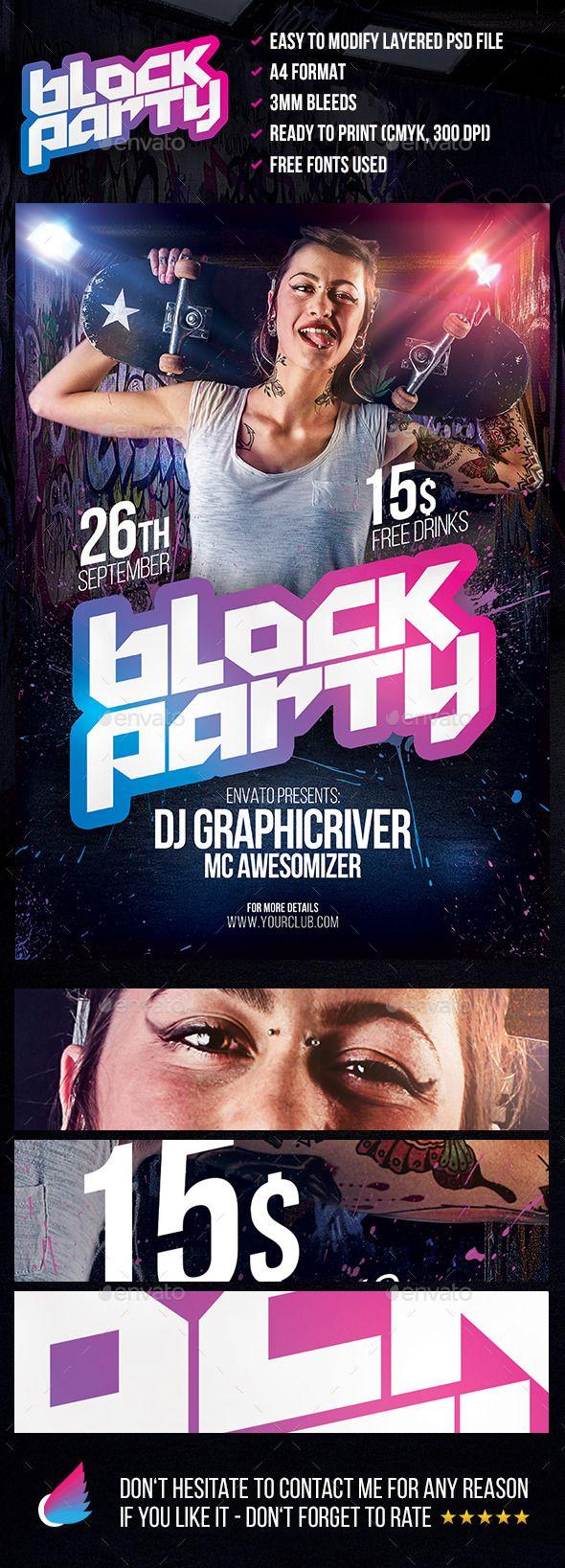 Ausgezeichnet Block Party Flyer Vorlage Galerie ...