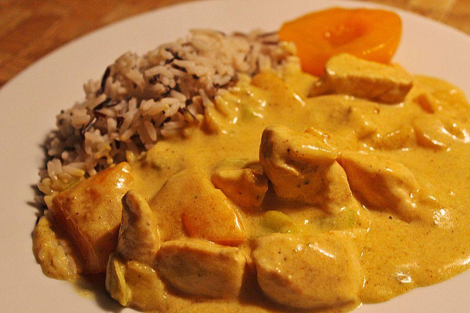 Hähnchen - Pfirsich - Curry von ohoboho | Chefkoch