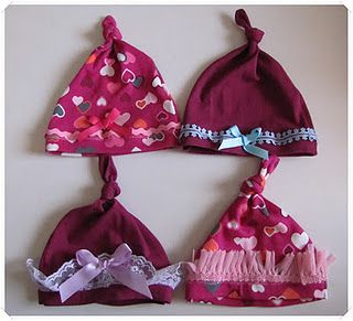 Baby caps made from T-shirts!