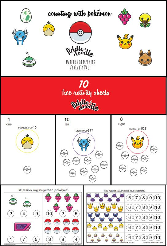 FREE printable Pokemon Go inspired dot marker sheets for toddlers ...