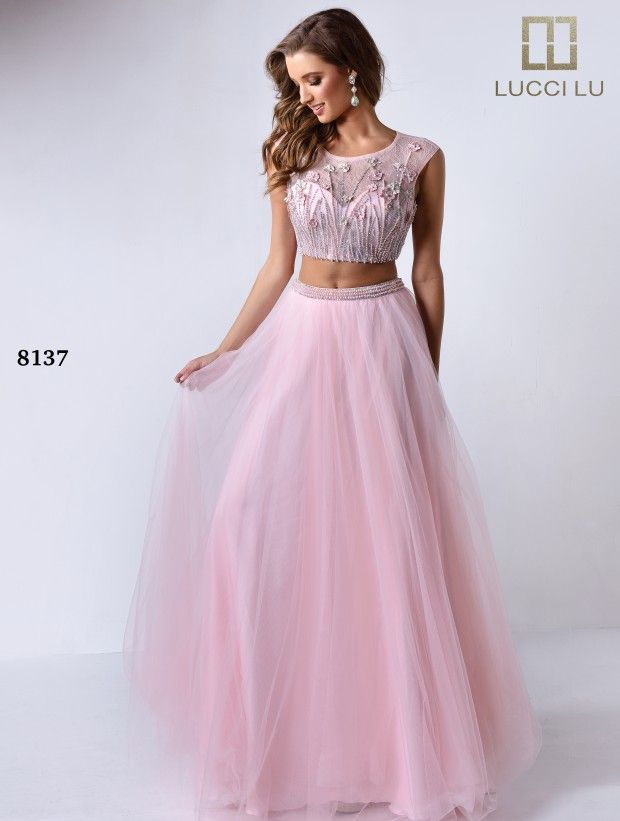 2 Piece Ball Gown Prom Dress | Ball Gown Prom Dresses | Pinterest ...