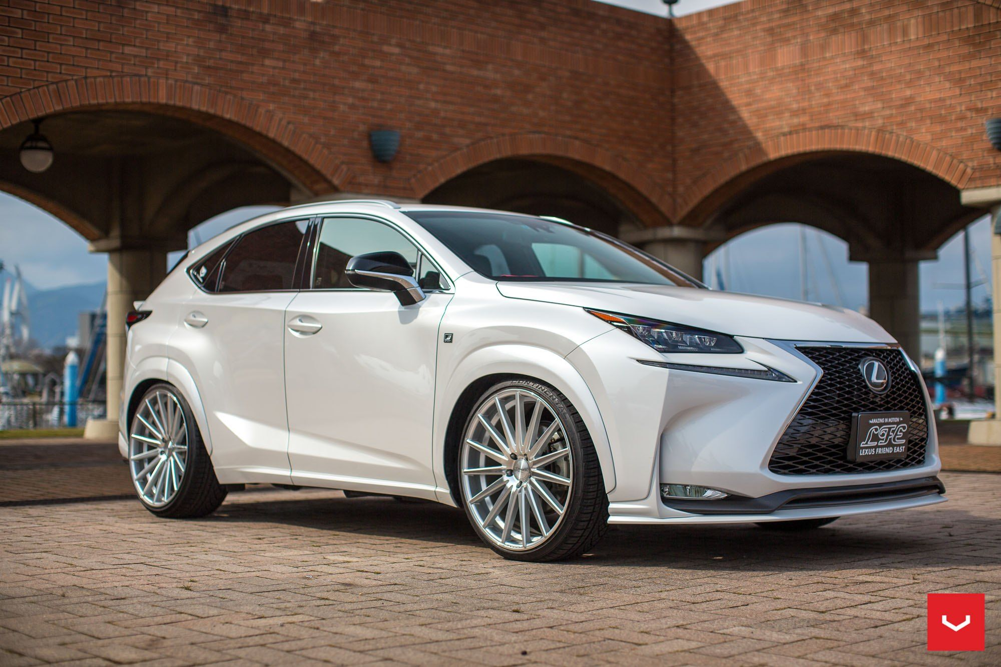 Classy Pearl White Lexus Nx With Lowered Suspension And Vossen Rims White Lexus Lexus Lexus Nx 200t