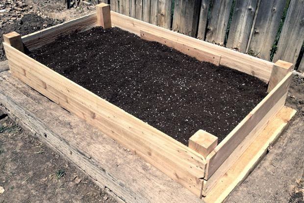 Organiser un potager sur lev espace pour la vie for Bac jardinage sureleve