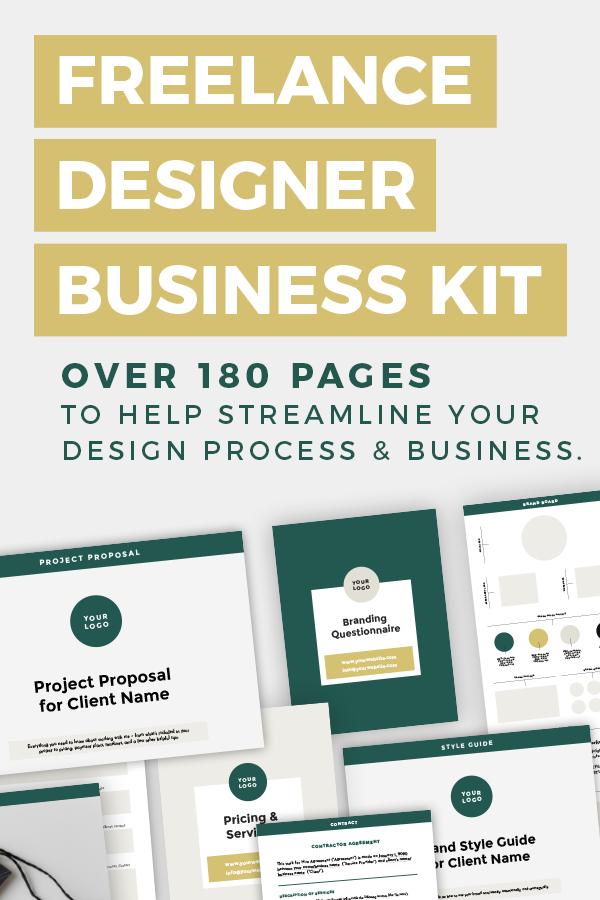 Freelance Designer Business Bundle Brand Board Template Project Proposal Template Questionnaire Template