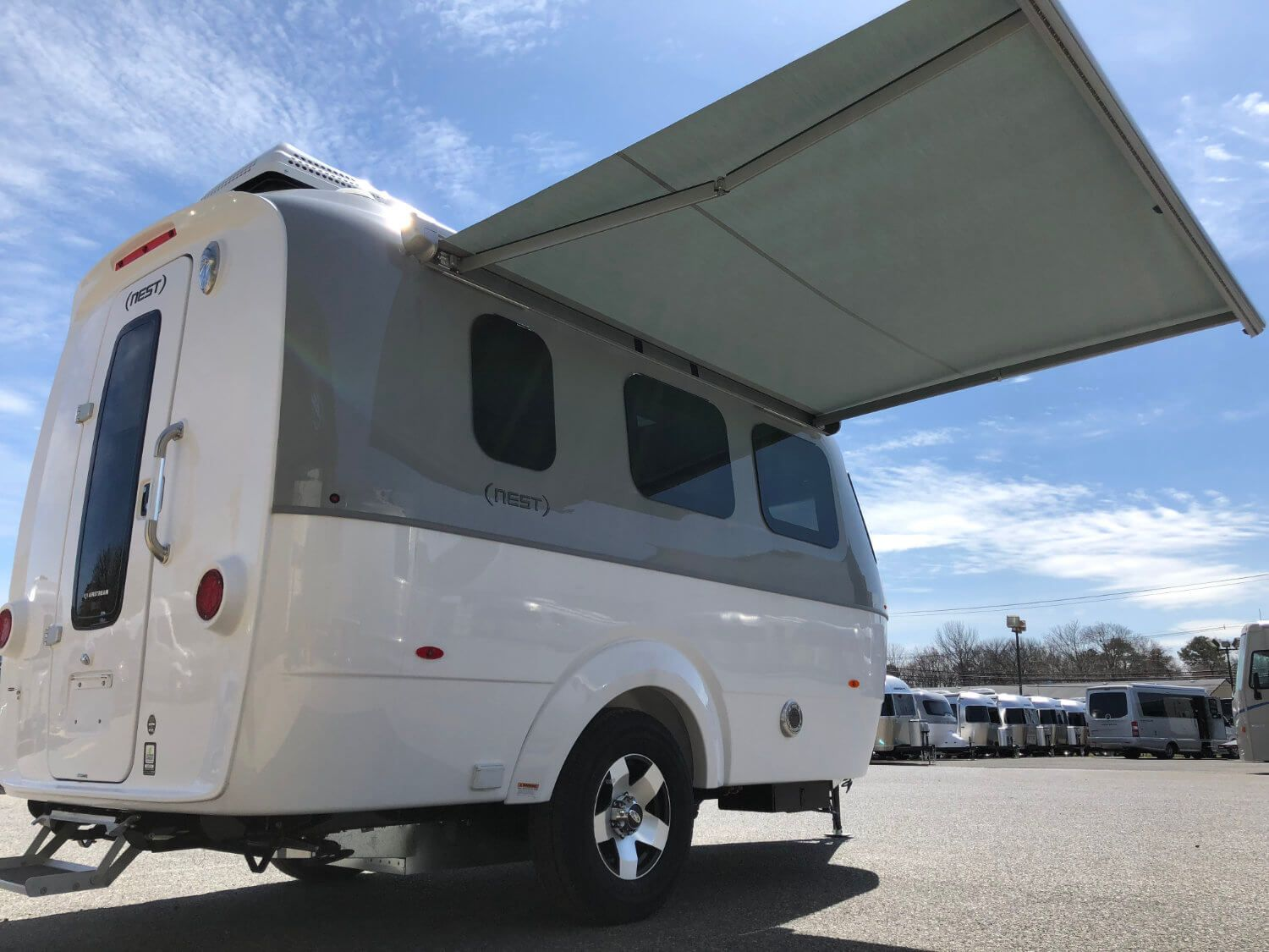 The Airstream Nest Has An Electric Powered Awning That Comes