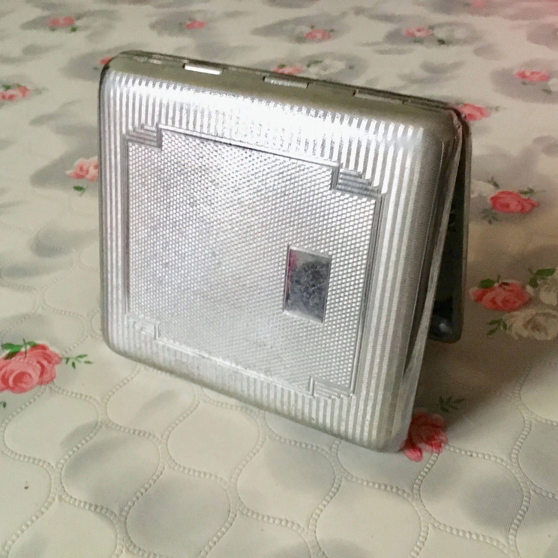 Har-bro cigarette case, vintage cigarette case, chrome cigarette ...