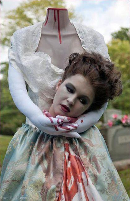 Headless woman costume scary creepy halloween costumes diy costume - scary homemade halloween costume ideas