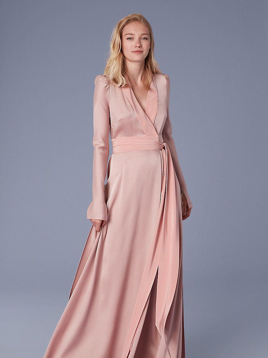 13+ Long wrap dress ideas
